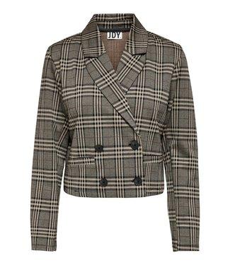 JACQUELINE de YONG JDYMIA Short Check Blazer - Cobblestone Big Checks