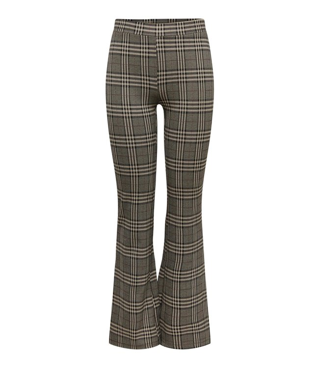 JDYMANDY Mia Flare Check Pant - Cobblestone Big Checks