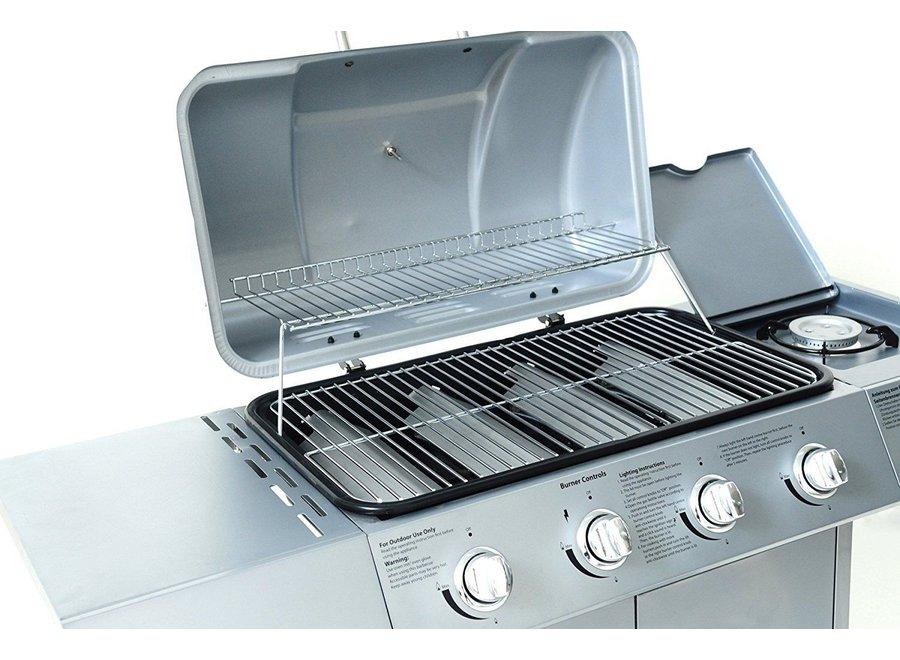 """Gasbarbecue """"Dayton"""" 4.1 Zilver"""