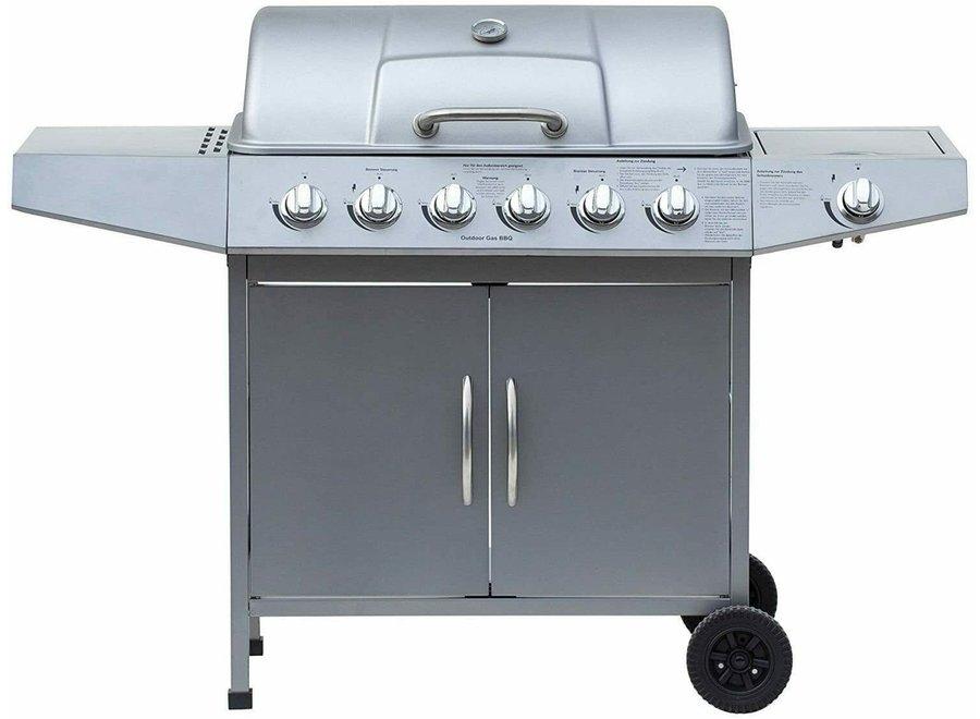 """Gasbarbecue """"Dayton"""" 6.1 Zilver"""