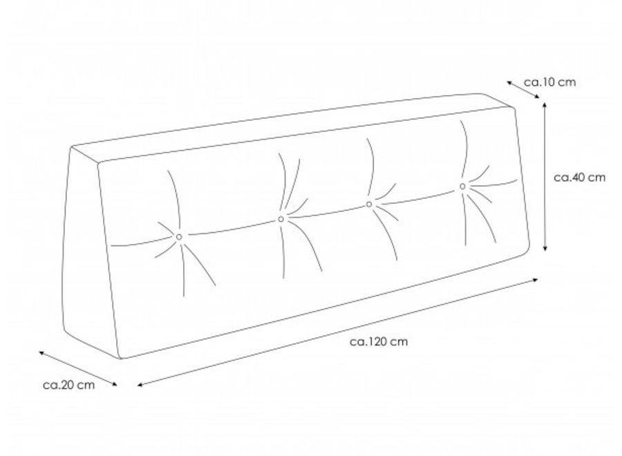 Palletkussens incl. rugkussens 120x80cm Zilver