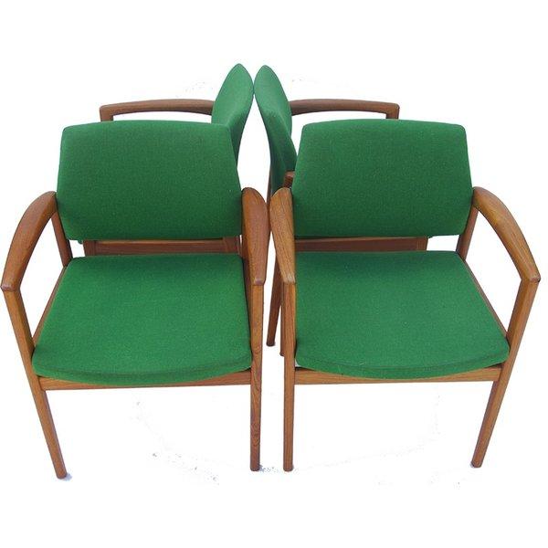 Byta BYTA Groene Vintage stoel 4 stuks