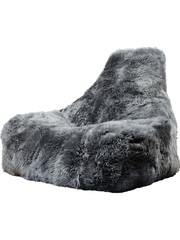 Extreme Lounging Extreme Lounging Zitzak B-bag Mighty-b Gey - Sheepskin 'FUR'
