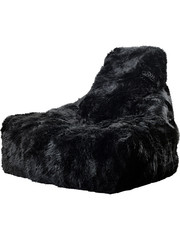Extreme Lounging Extreme Lounging Zitzak B-bag Mighty-b Black - Sheepskin 'FUR'