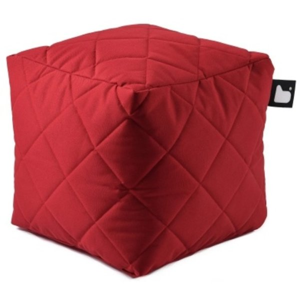 Extreme Lounging Extreme Lounging Poef B-box Quilted Rood