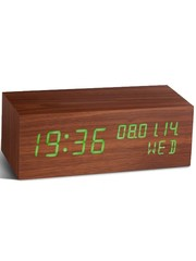 Gingko Gingko Click Clock Walnut Square