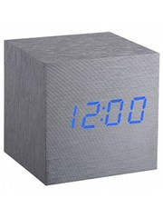 Gingko Gingko Cube Clock Aluminium Blue LED