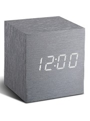Gingko Gingko Cube Clock Aluminium LED