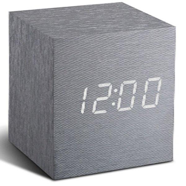 Gingko Gingko Cube Clock Aluminium LED