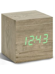 Gingko Gingko Cube Clock Ash Wood LED