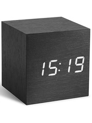 Gingko Gingko Cube Clock Black White LED