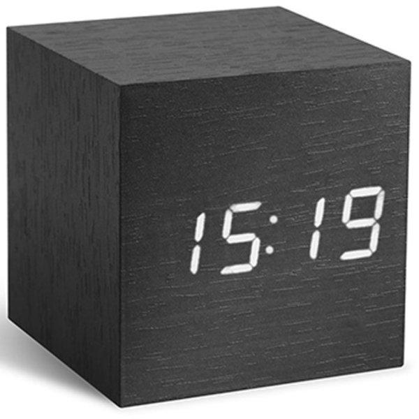 Gingko Gingko Cube Clock Black White LED