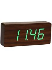 Gingko Gingko Slab Clock Donkergroen