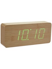 Gingko Gingko Slab Clock Groen