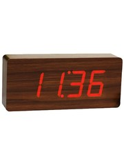 Gingko Gingko Slab Clock Rood