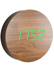Gingko Gingko Wall Clock Walnut Green