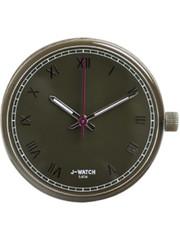 JU'STO JU'STO J-WATCH uurwerk Roman Numerals Olive