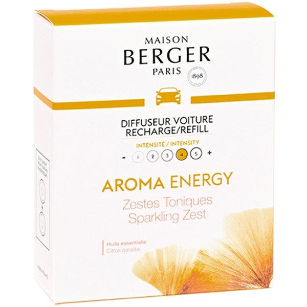 Maison Berger Maison Berger Auto Parfum Navulling Aroma Energy - Zestes Toniques