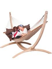 La Siesta La Siesta Hangmatset Hangmat Alabama Arabica + Standaard Canoa 3-persoons
