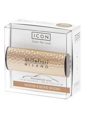 Millefiori Milano Millefiori Milano Auto Parfum Incense & Blond Woods (Metal Shades)