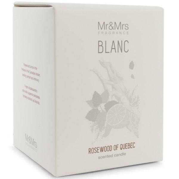 Mr & Mrs Fragrance Mr&Mrs Fragrance Geurkaars Blanc Rosewood of Quebec 250gr