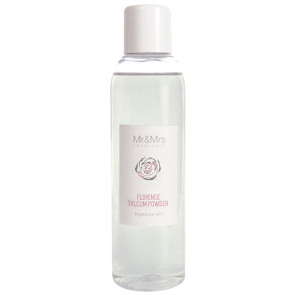Mr & Mrs Fragrance Mr&Mrs Fragrance Navulling Geurstokjes Blanc Florence Talcum Powder 200ml