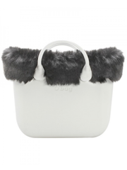 Fullspot Fullspot O bag Mini Omslag Fox Kunstbont Zilver