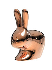 Qeeboo Qeeboo Rabbit Chair Baby Metallic Copper