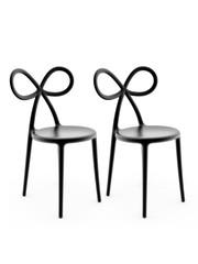 Qeeboo Qeeboo Ribbon Chair Black - set van 2 stuks