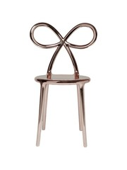 Qeeboo Qeeboo Ribbon Chair Metallic Pink Gold