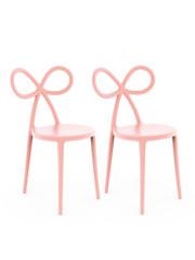 Qeeboo Qeeboo Ribbon Chair Pink- set van 2 stuks
