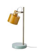 Dyberg Larsen Dyberg Larsen Tafellamp OCEAN Mat Curry met koper en Tuequoise Standaard