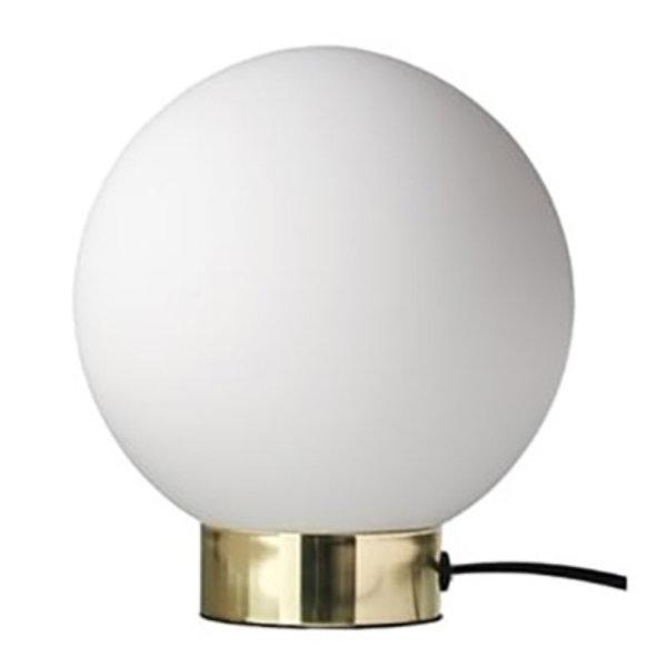 Dyberg Larsen Dyberg Larsen Tafellamp Barcelona Opaal met Bronzen Standaard