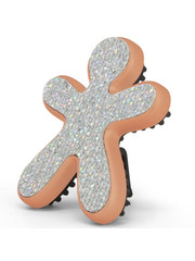 Mr&Mrs Fragrance Mr&Mrs Fragrance Auto Parfum Niki Fashion Vanilla & Patchouly York Glitter Zilver