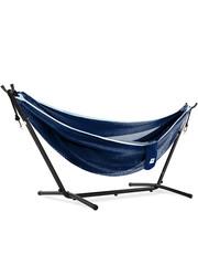Vivere Vivere Mesh - Hangmat met Standaard 250 cm - Navy/Turquoise