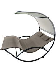 Vivere Vivere Double Chaise Rocker Aluminium Cocoa