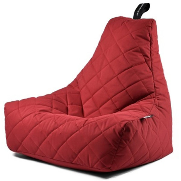 Extreme Lounging Extreme Lounging Zitzak B-bag Mighty-b Quilted Rood