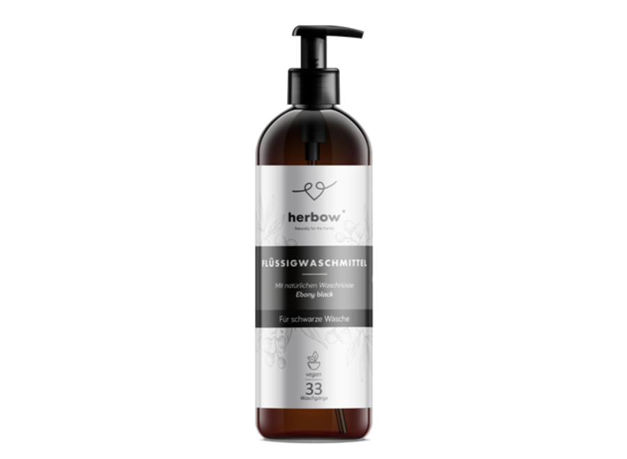 Flüssigwaschmittel für schwarze Kleidung von Herbow