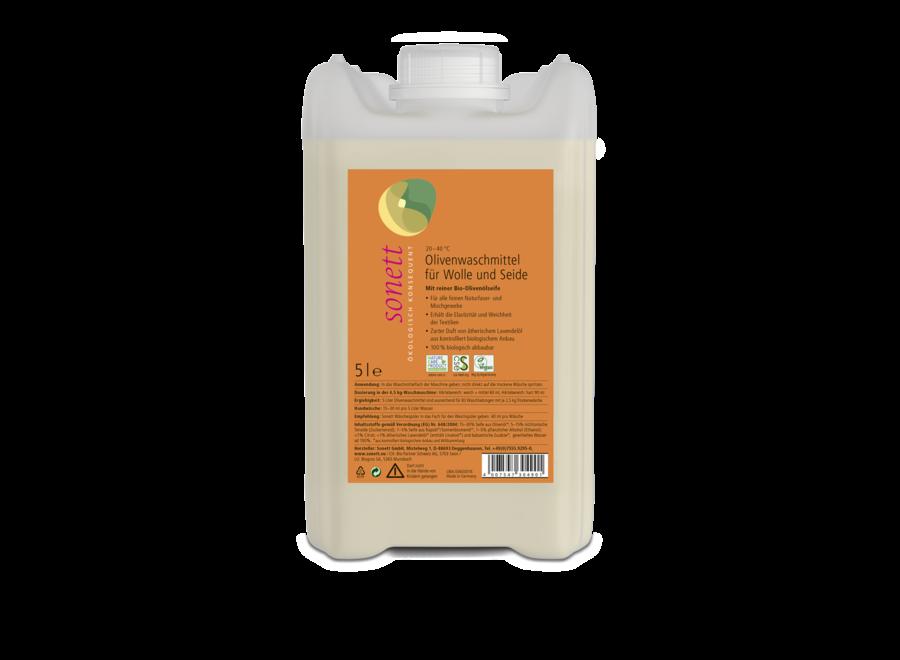 Sonett Olivenwaschmittel für Wolle und Seide 5L