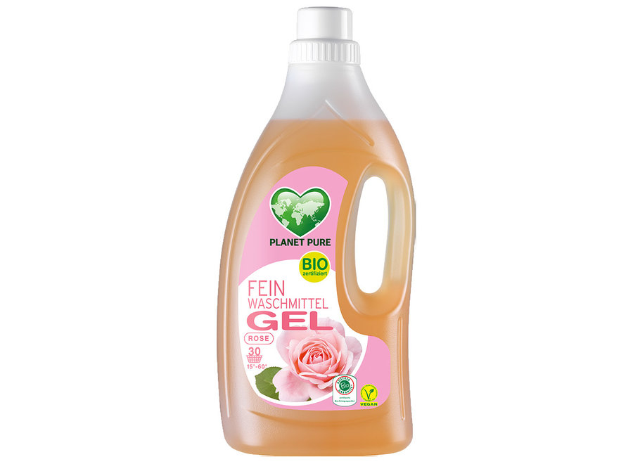 Bio Feinwaschmittel Gel Rose von Planet Pure