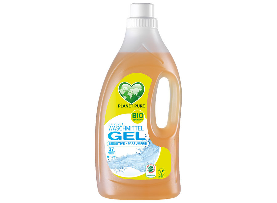 Planet Pure Bio Waschmittel Gel Sensitive Parfümfrei 1,5L