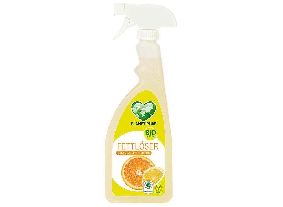 Bio Fettlöser Frische Orange & Zitrone Spray von Planet Pure