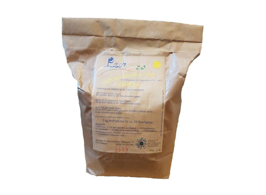 Pach Seifenwaschpulver Zitrone 2 KG
