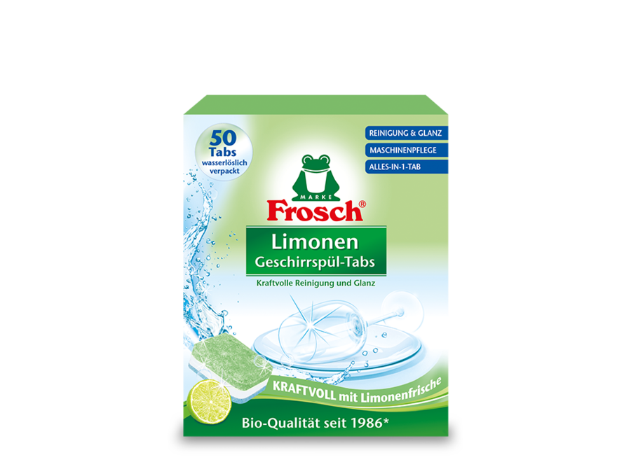 Frosch Limonen Geschirrspül-Tabs 50 Stk