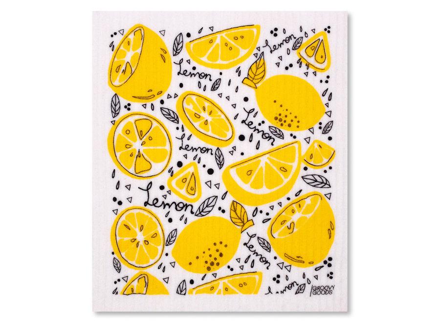 Ökologisches Schwammtuch Lemon