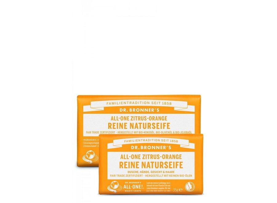 Dr. Bronner's Seifenstück Zitrus Orange