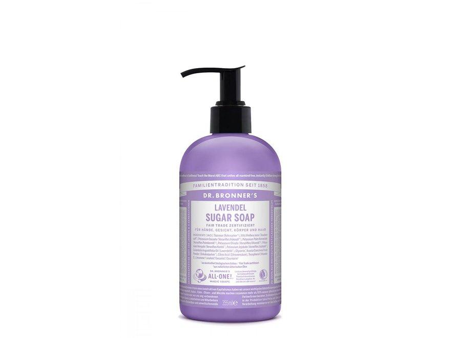 Dr. Bronner's Sugar Soap Lavendel mit Pumpspender