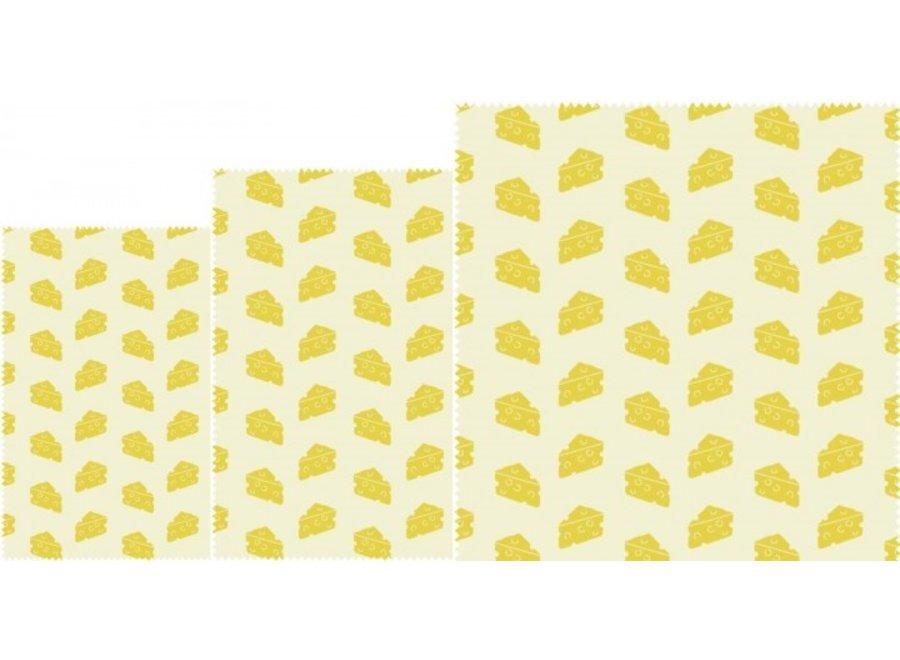 """Bienenwachstücher """"Käse"""" 3er Set von nuts"""