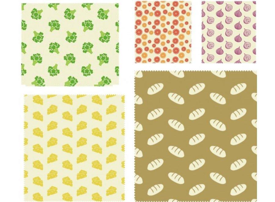 Bienenwachstücher Universal 5er Set von nuts