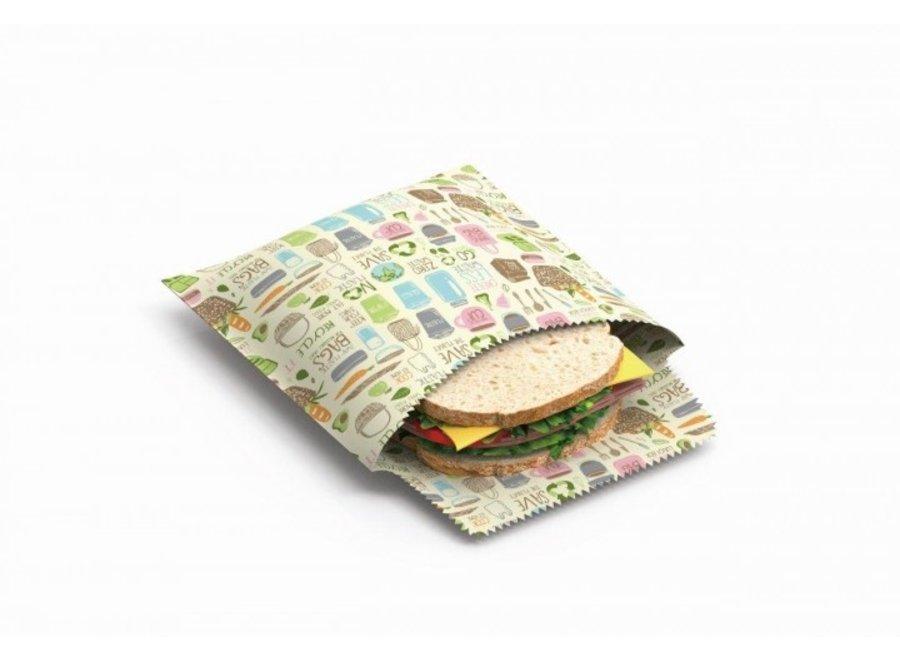 """Sandwich & Snack Beutel """"Zero Waste"""" 2er Set von nuts"""